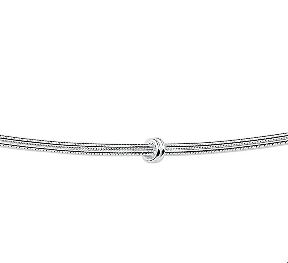 TFT Zilveren Ketting Slang En Knoop. 1,5 mm x 45 cm