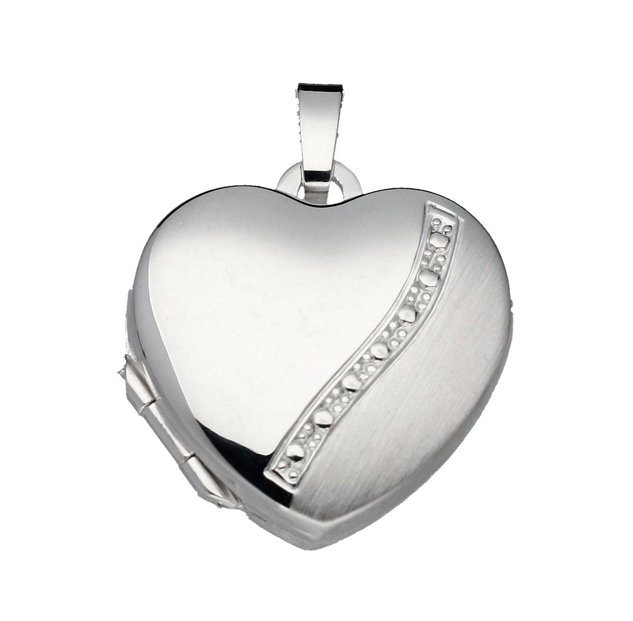 Zilveren Medaillon 'Hart' mat/glanzend 145.0067.00