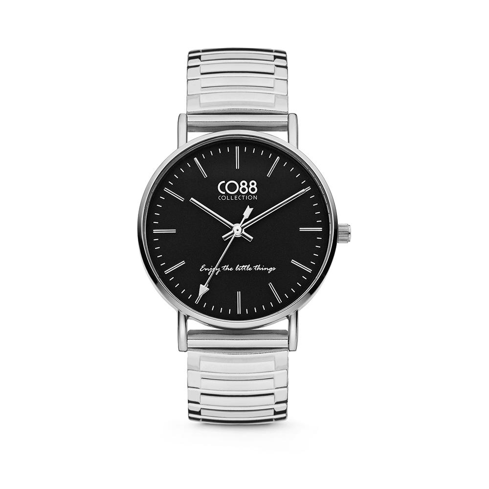 CO88 Collection Horloges 8CW 10087 Horloge met Stalen Elastische Band - Ø36 mm - Zilverkleurig