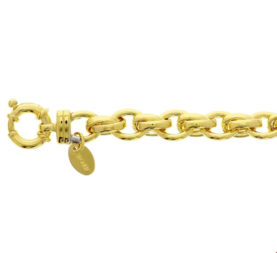 Zilgold armband goud met zilveren kern 20 cm 50.00133