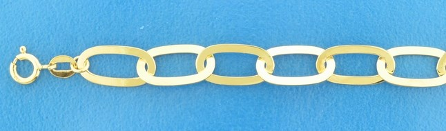 TFT Armband Goud Paperclip 8,0 mm 19 cm