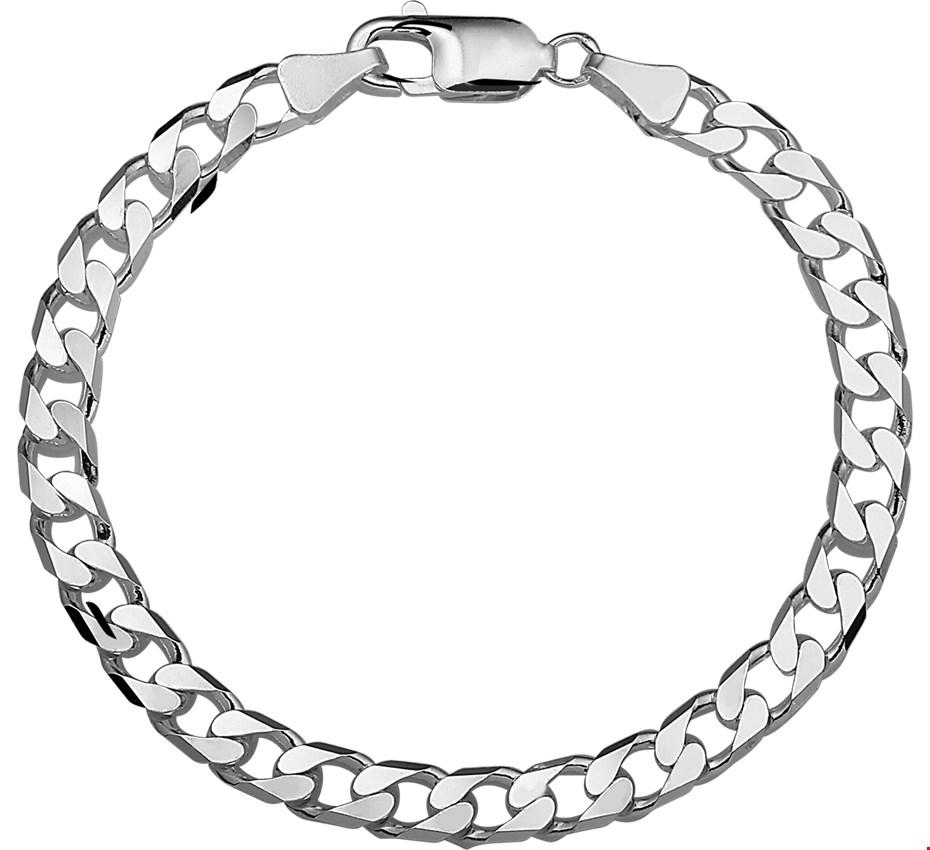 TFT Armband Zilver Geslepen Gourmet 6 mm 20 cm