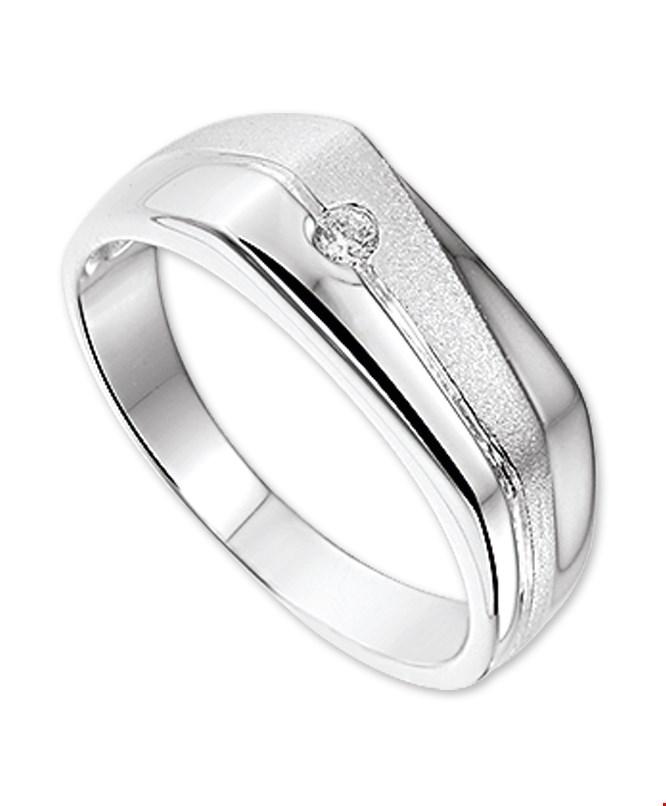 TFT Ring Zirkonia Poli/mat Zilver