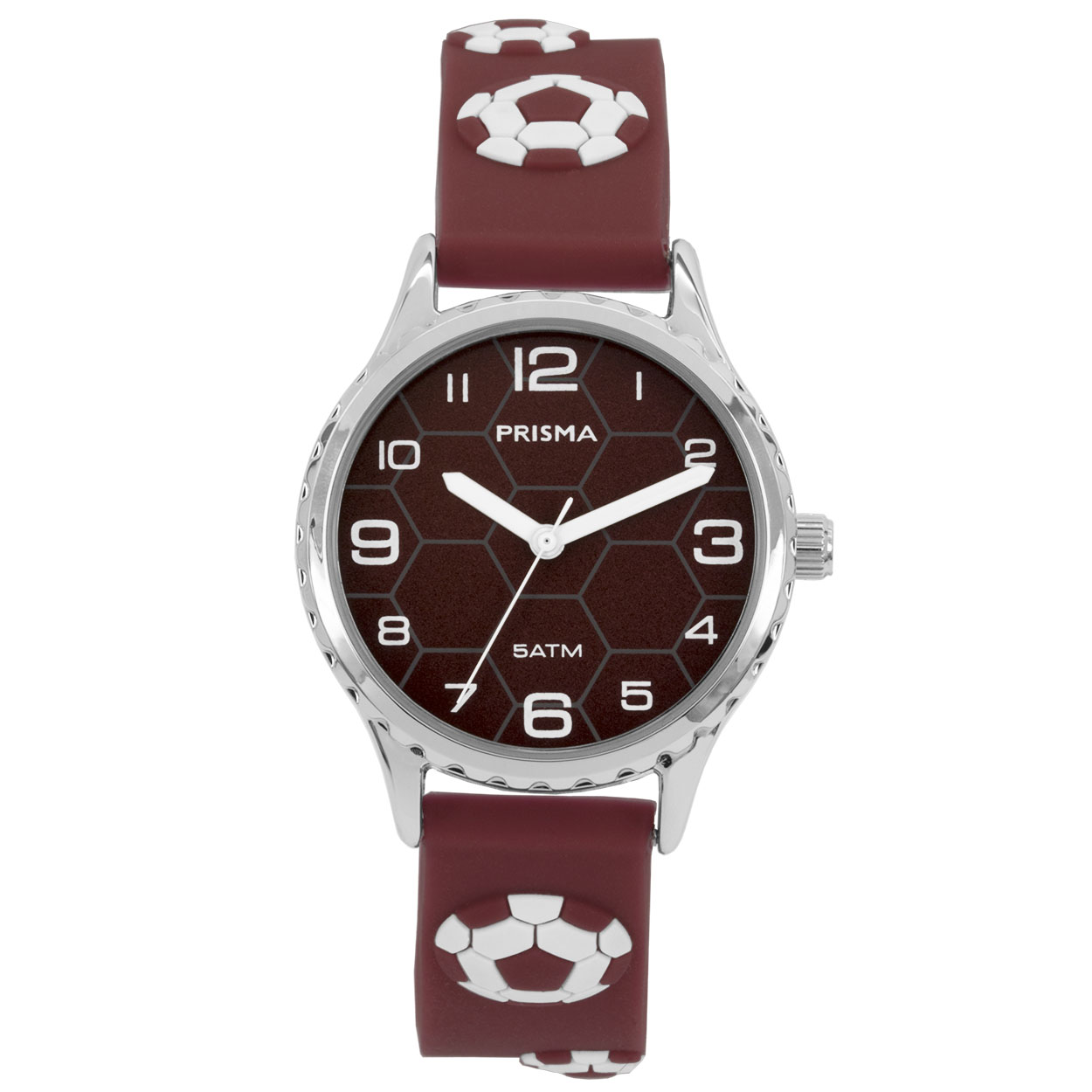 Coolwatch by Prisma CW.353 Kinderhorloge Voetbal staal/siliconen rood-wit 30 mm