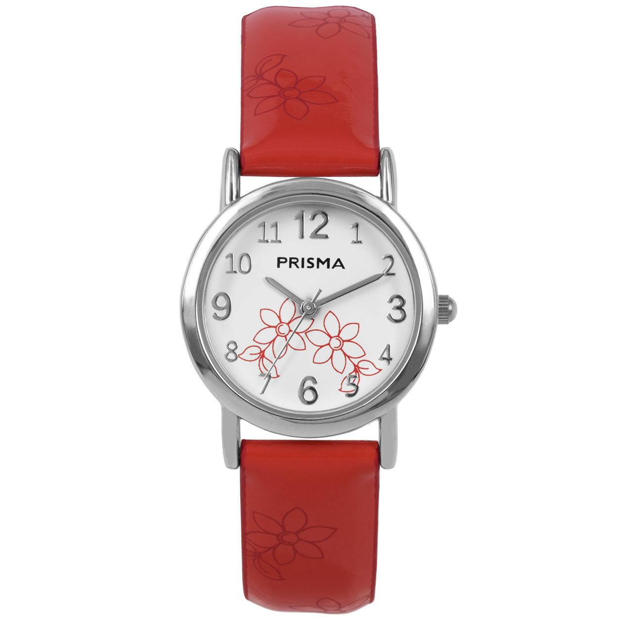 Coolwatch by Prisma CW.362 Kinderhorloge Lily staal/leder rood 26 mm