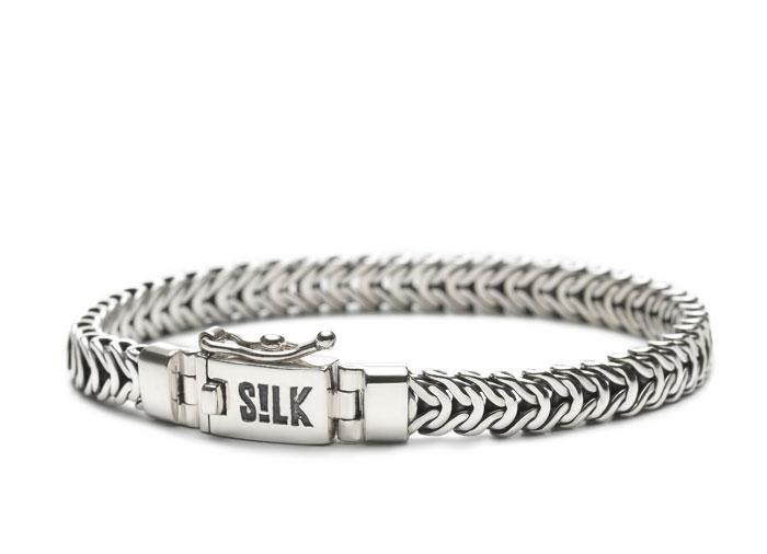 Silk Jewellery 347-21 Armband zilver lengte 21 cm