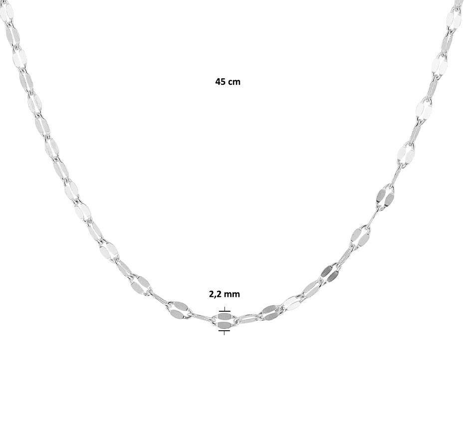 TFT Zilveren Ketting 2,2 mm x 45 cm