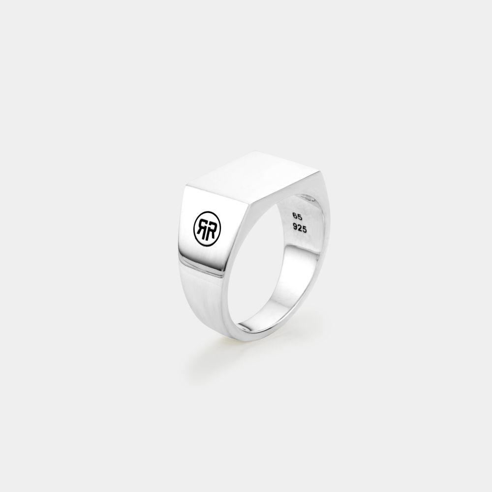 Rebel and Rose RR RG027 S Ring Zilver Square Silver Shine 60 (Ø19) 10 gr.