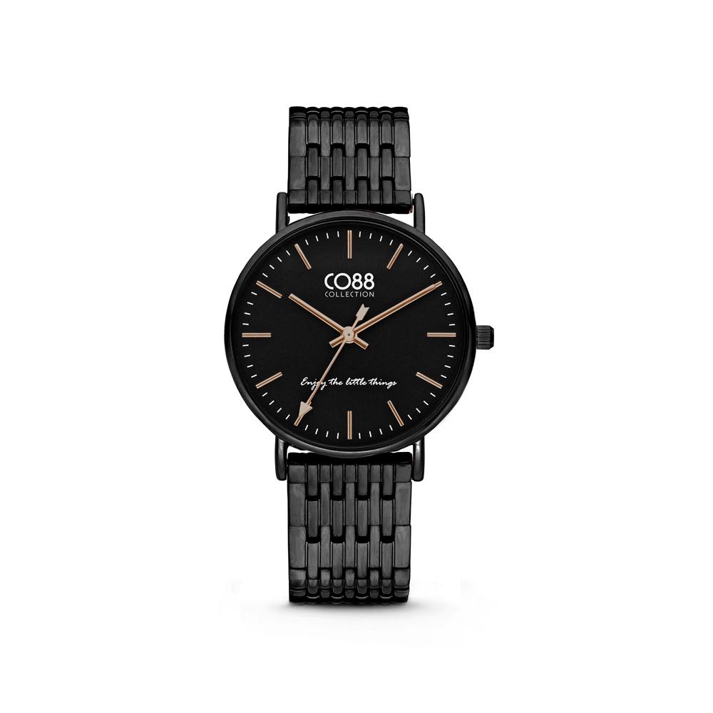 CO88 Collection 8CW 10075 Horloge - Stalen band - zwart - Ø 36 mm