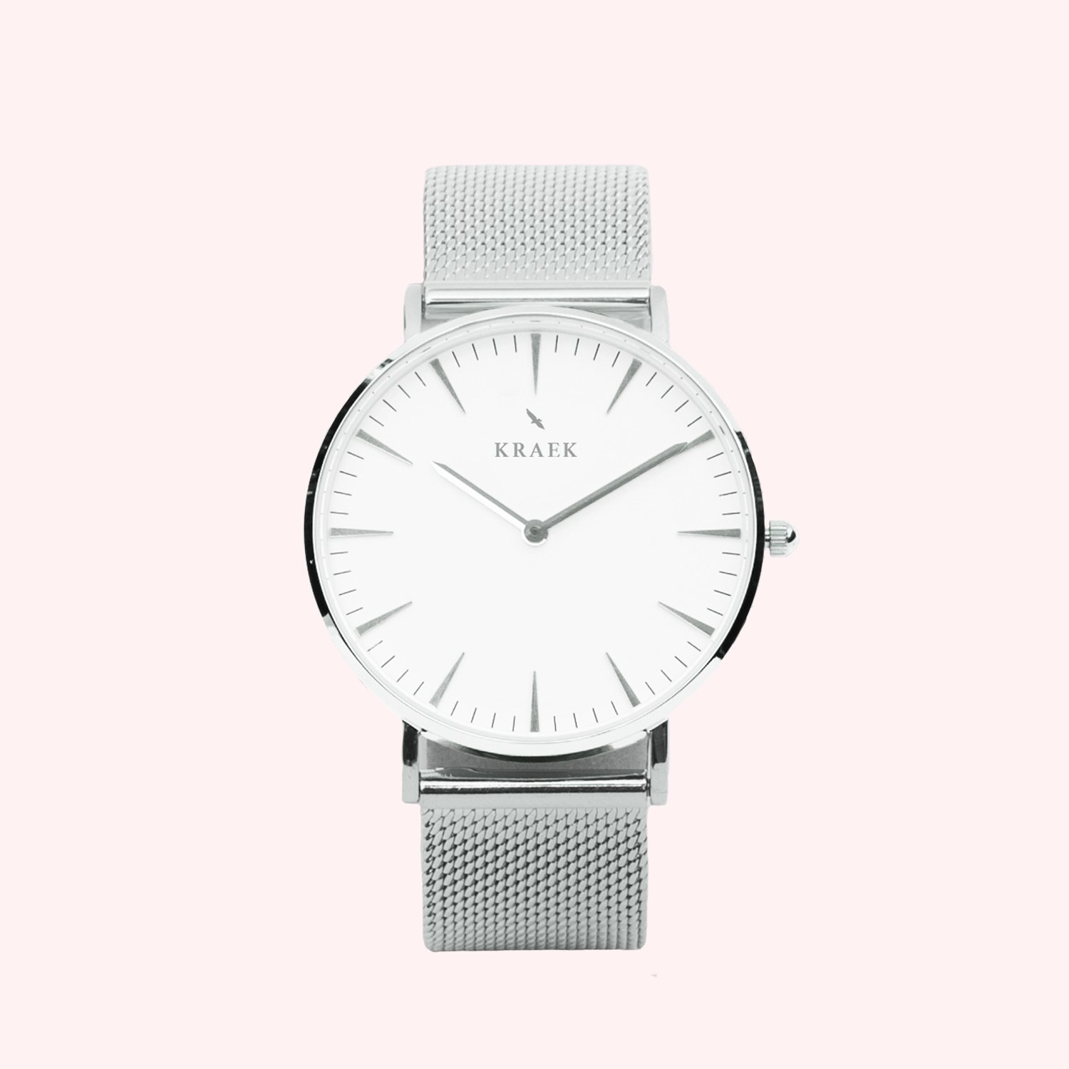 KRAEK Linnet | Silver | Mesh 36 mm Dameshorloge