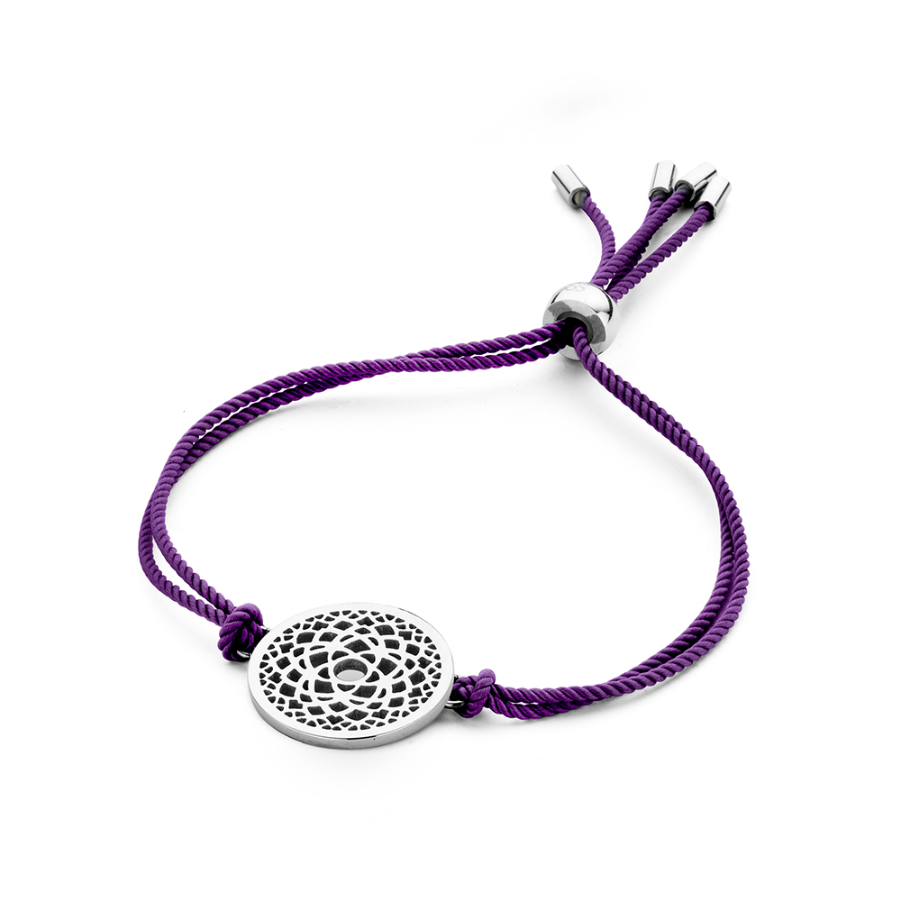 CO88 Collection Chakra 8CB 90208 Armband met Stalen Element - Crown Chakra Ø 20 mm - One-size - Paa