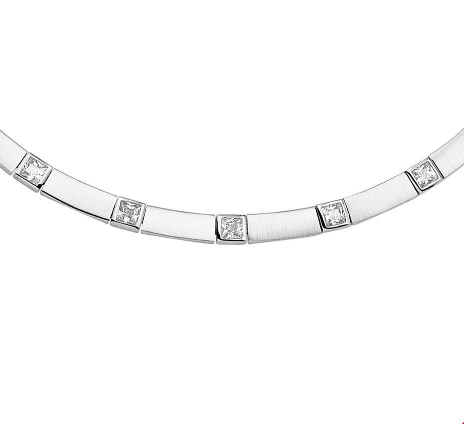 TFT Zilveren Ketting Zirkonia Poli/mat 5,5 mm 43 cm