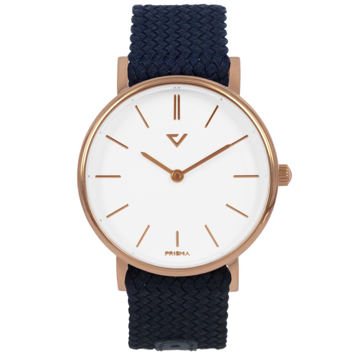 Prisma horloge P.1629.WG22 Lederen band Rose goud