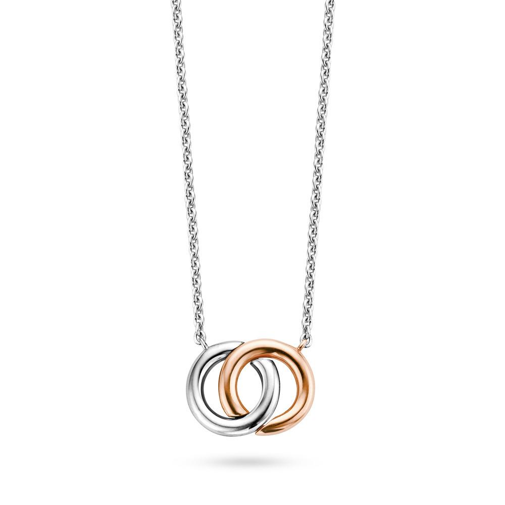 Ti Sento - Milano 3822SR Ketting Valentine zilver- en rosekleurig 48 cm