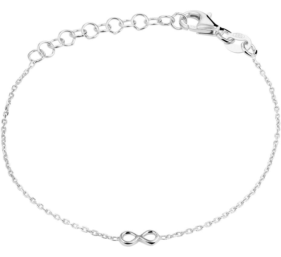 TFT Armband Zilver Infinity 1,0 mm 13 + 3 cm