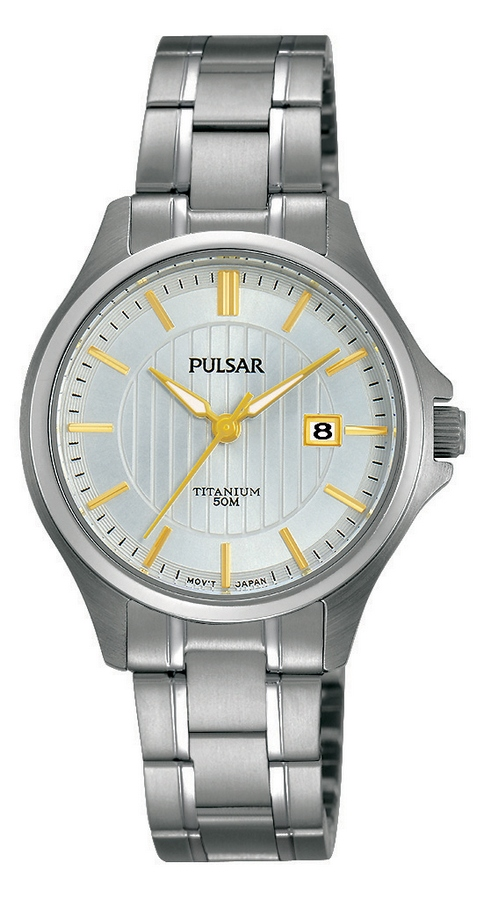 Pulsar PH7435X1 Dameshorloge Titanium 30 mm