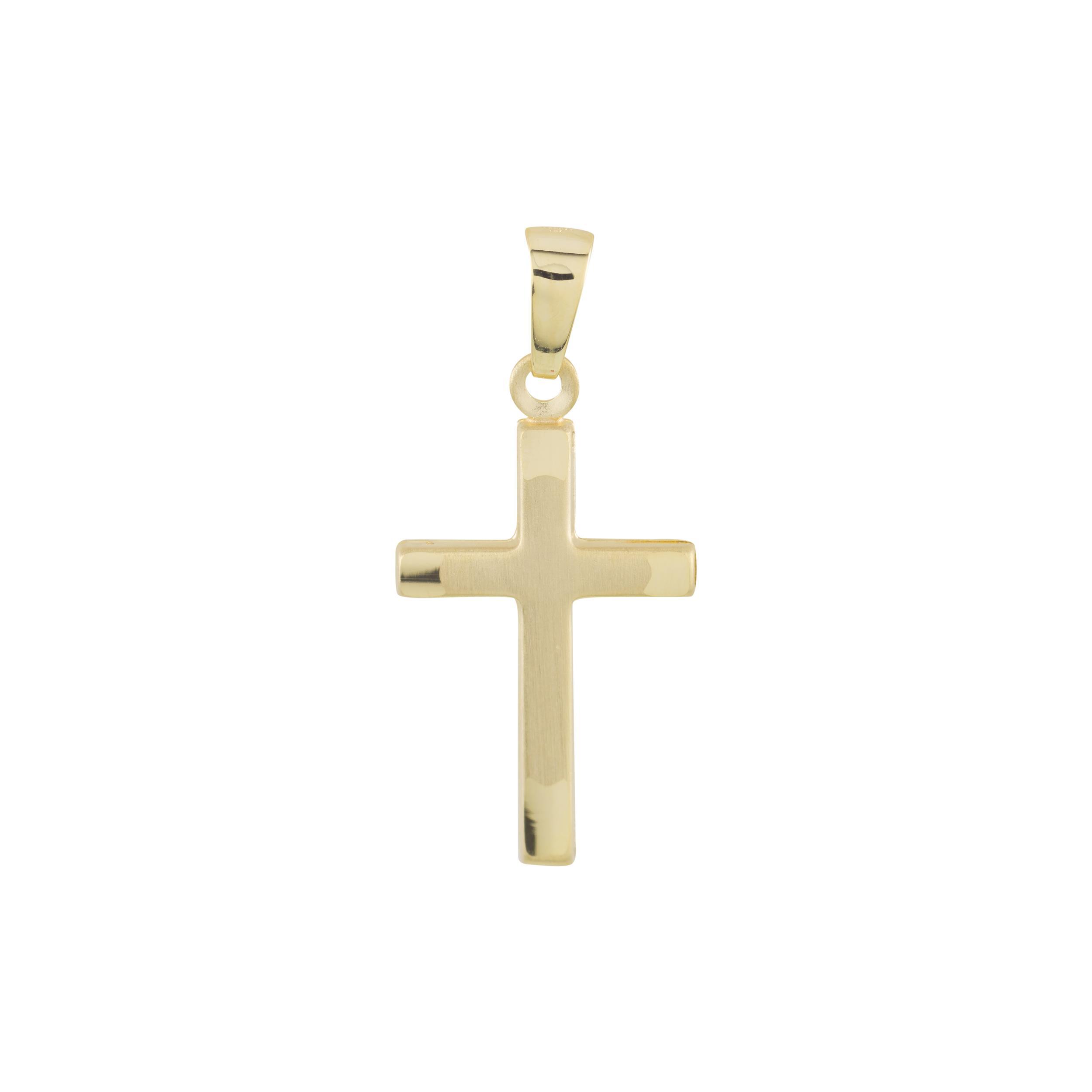 Gouden Hanger kruisje 26 x 12 mm hol 246.0129.00