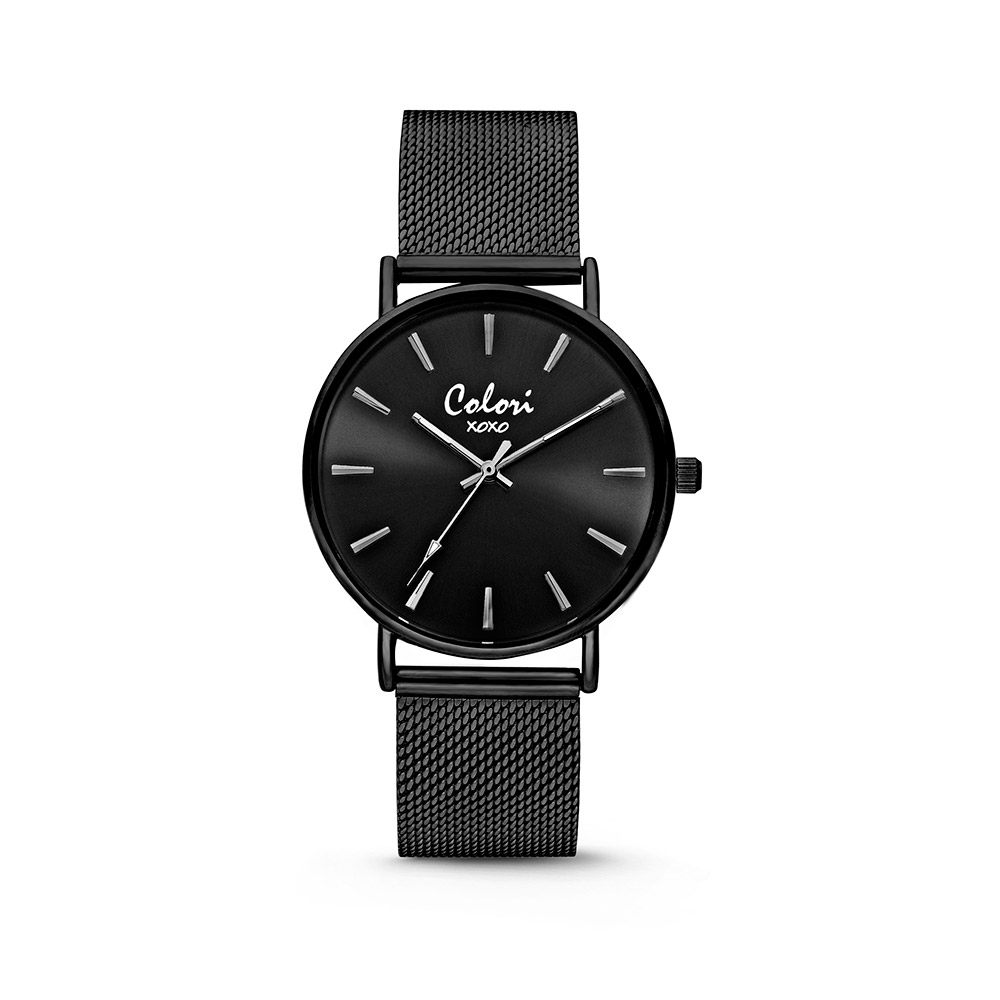 Colori XOXO 5 COL536 Horloge - Mesh Band - Ø 36 mm - Zwart