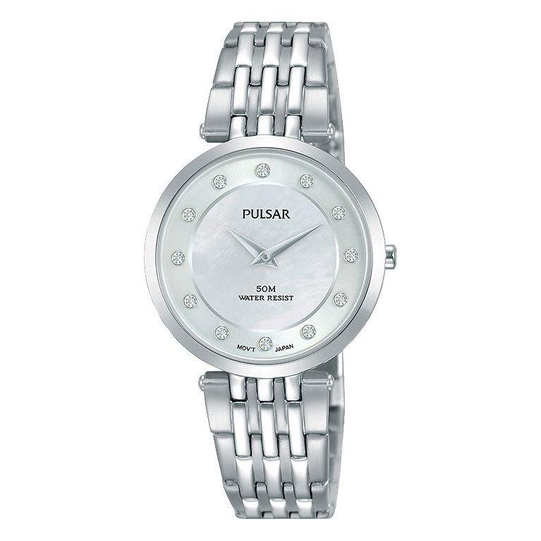Pulsar Dameshorloge Staal/Swarovski zilverkleurig PM2253X1