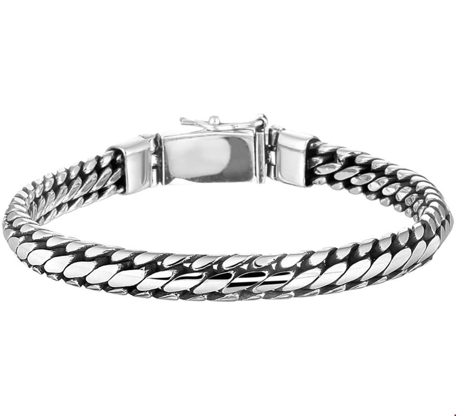 TFT Armband Zilver 6 mm 21 cm