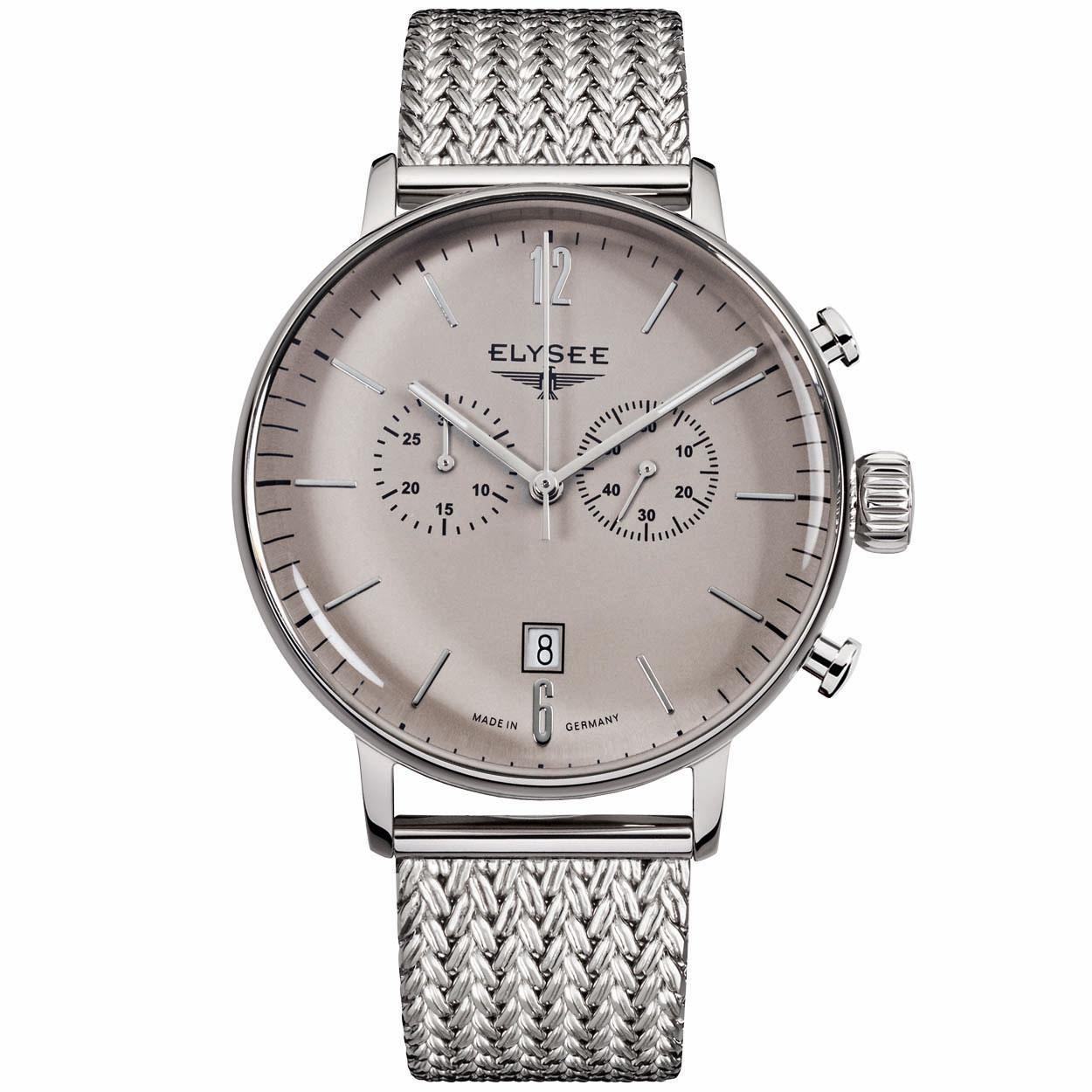 Elysee Herenhorloge EL.13272M All stainless Zilver
