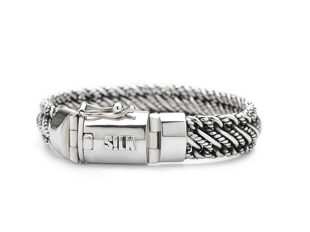 Silk Jewellery 734.19 Armband zilver Madonna 19 cm