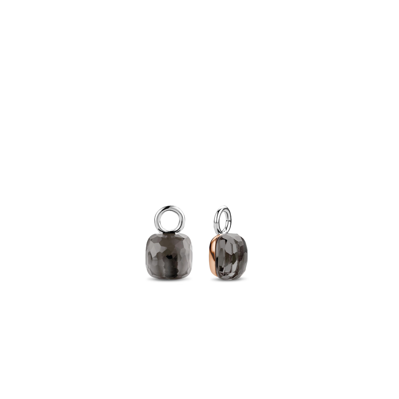 TI SENTO Milano 9215GB Oorbedels zilver kristal grijs rosekleurig 10 x 15 mm