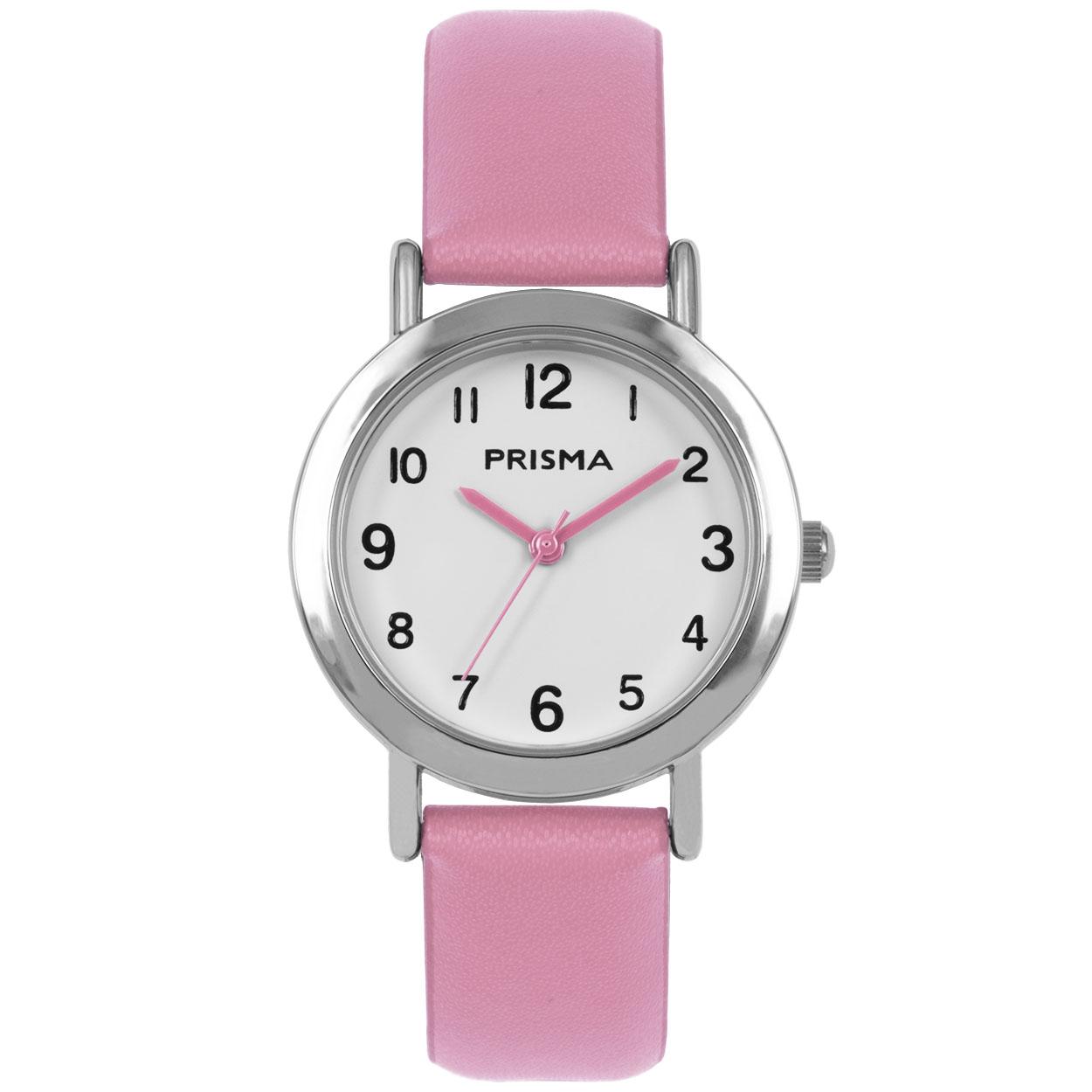 Coolwatch by Prisma CW.355 Kinderhorloge Vera staal/leder roze 29 mm