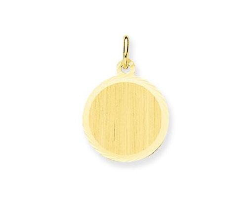 Glow Gouden Graveerplaatje Rond 14 mm 242.0032.14