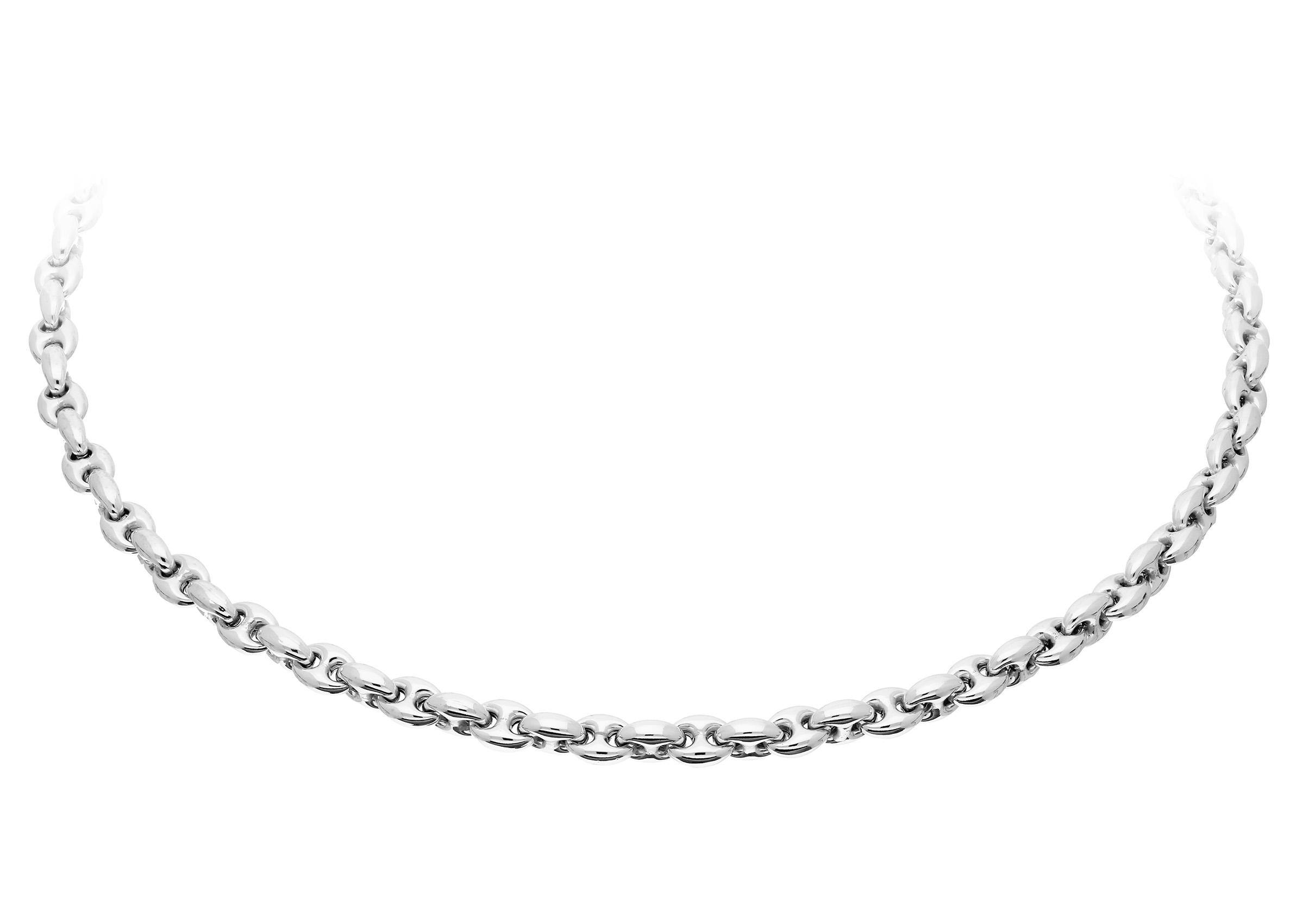 Elegance Zilveren gerodineerd Schakelcollier 45 cm 'Koffieboon' 102.4032.45