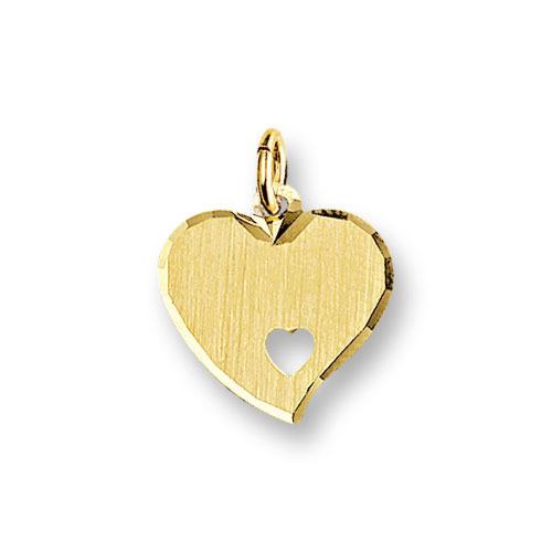 Huiscollectie 4006176 Gouden graveerplaat hartvormig