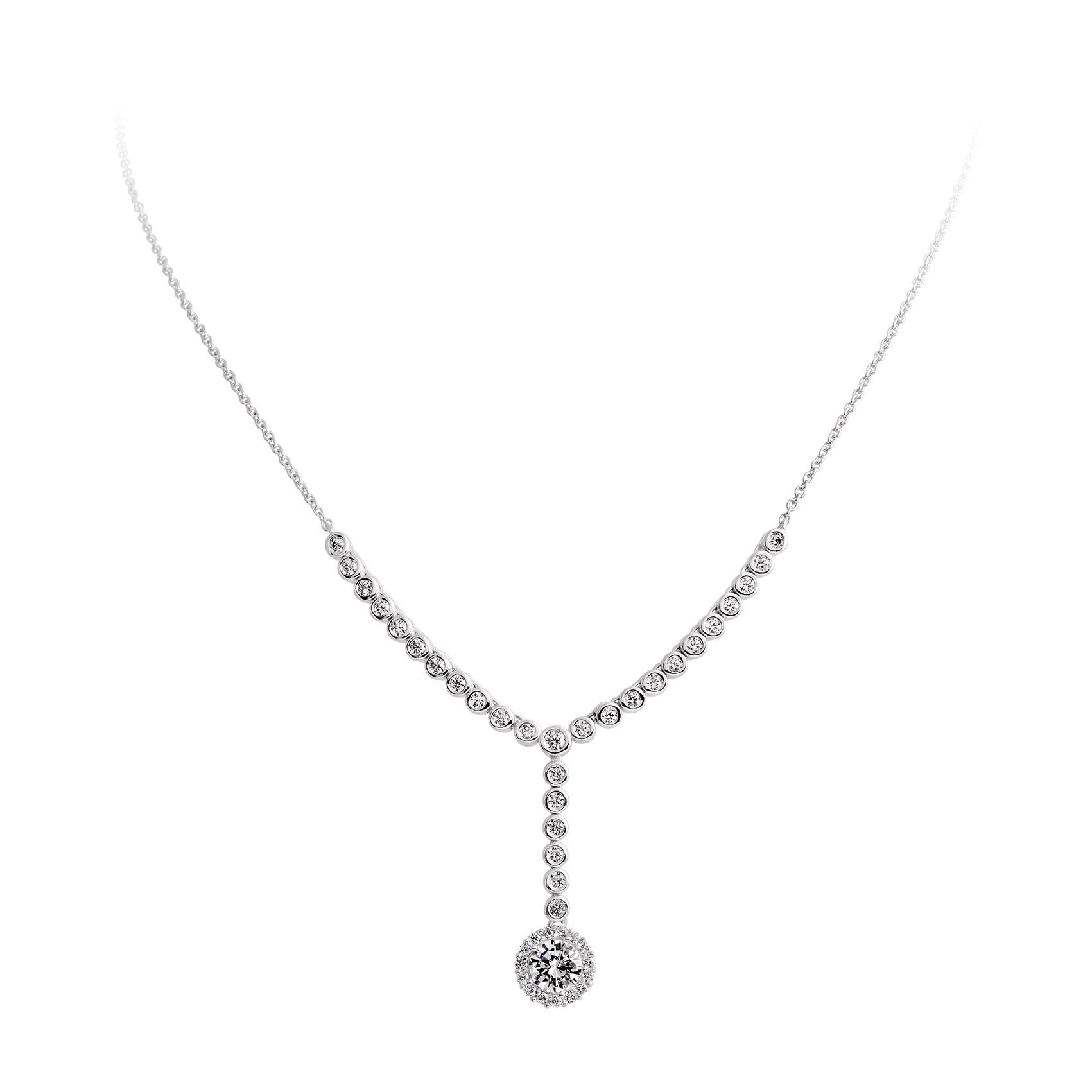 Zilveren Collier met Hanger 'Bridal' 45 cm lang. 803.0388.45