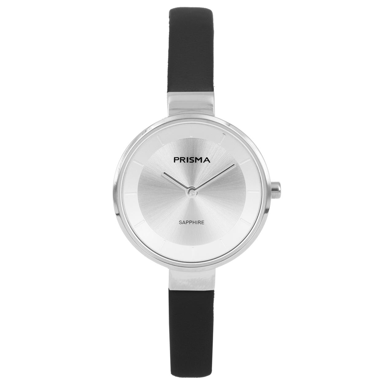 Prisma P.1927 Horloge Prisma Touch staal/leder