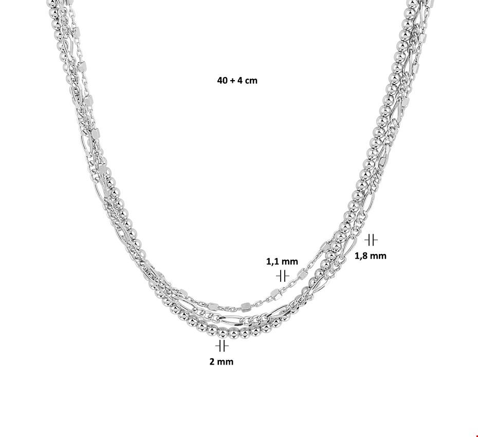 TFT Zilveren Ketting 2,0 mm 40 + 4 cm