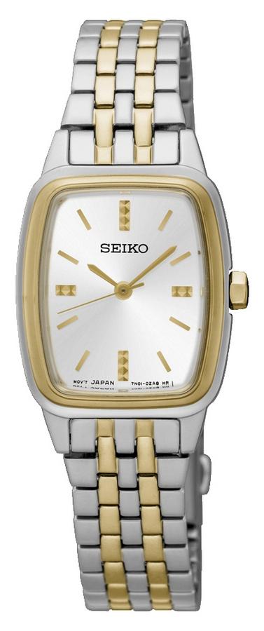 Seiko Dameshorloge Goud- en zilverkleurig SRZ472P1