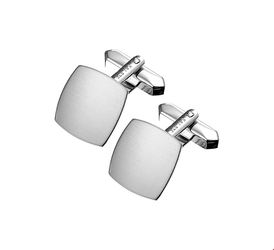 TFT Manchetknopen Poli/mat Zilver Gerhodineerd Mat Glanzend 15,5 mm x 15,5 mm