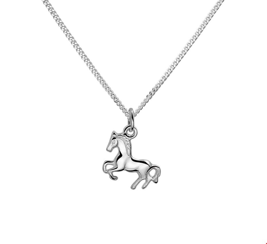 TFT Zilveren Ketting Paard 1,4 mm x 26+4 cm
