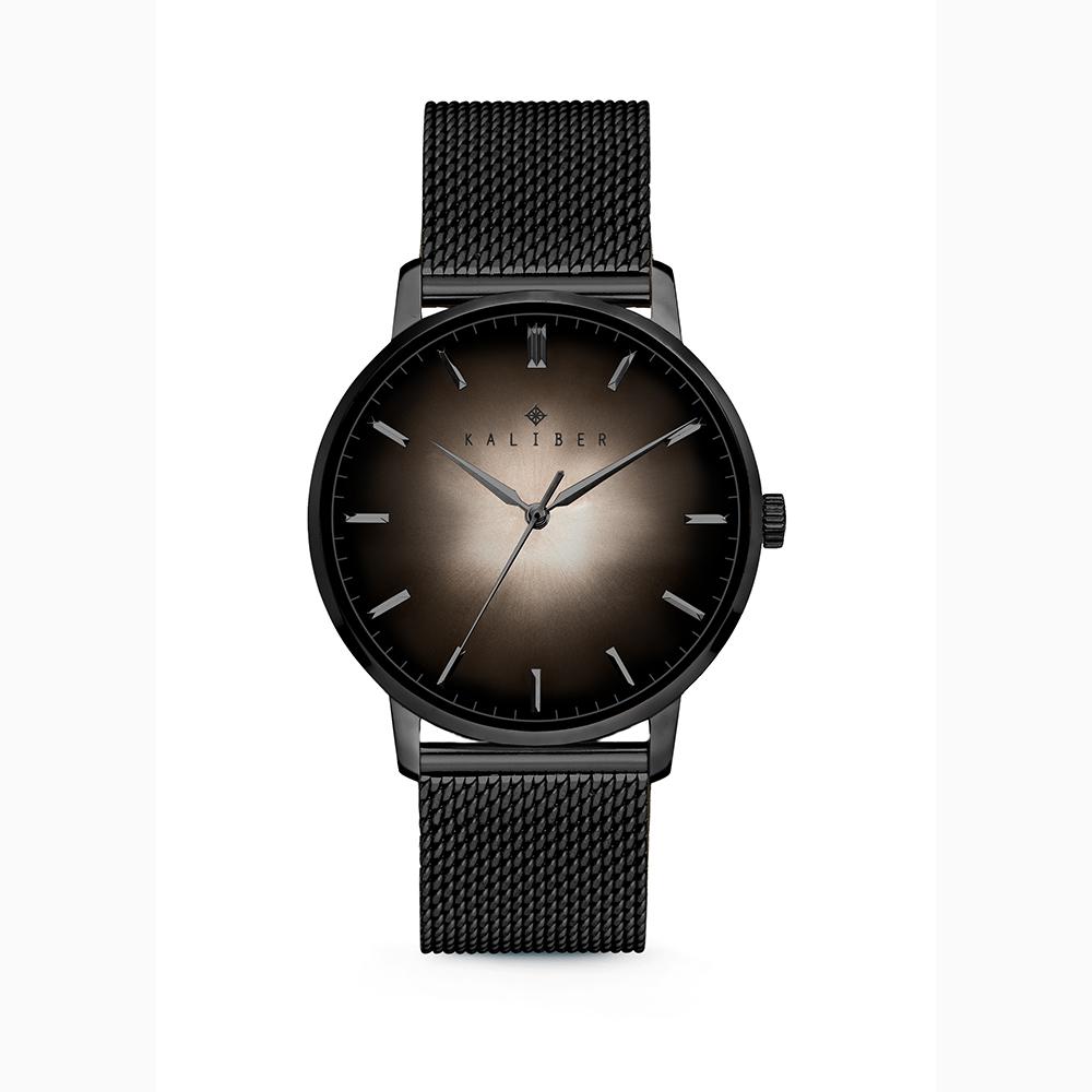 Kaliber 7KW 0011 Horloge met Meshband Ø40 mm zwart-zilverkleurig