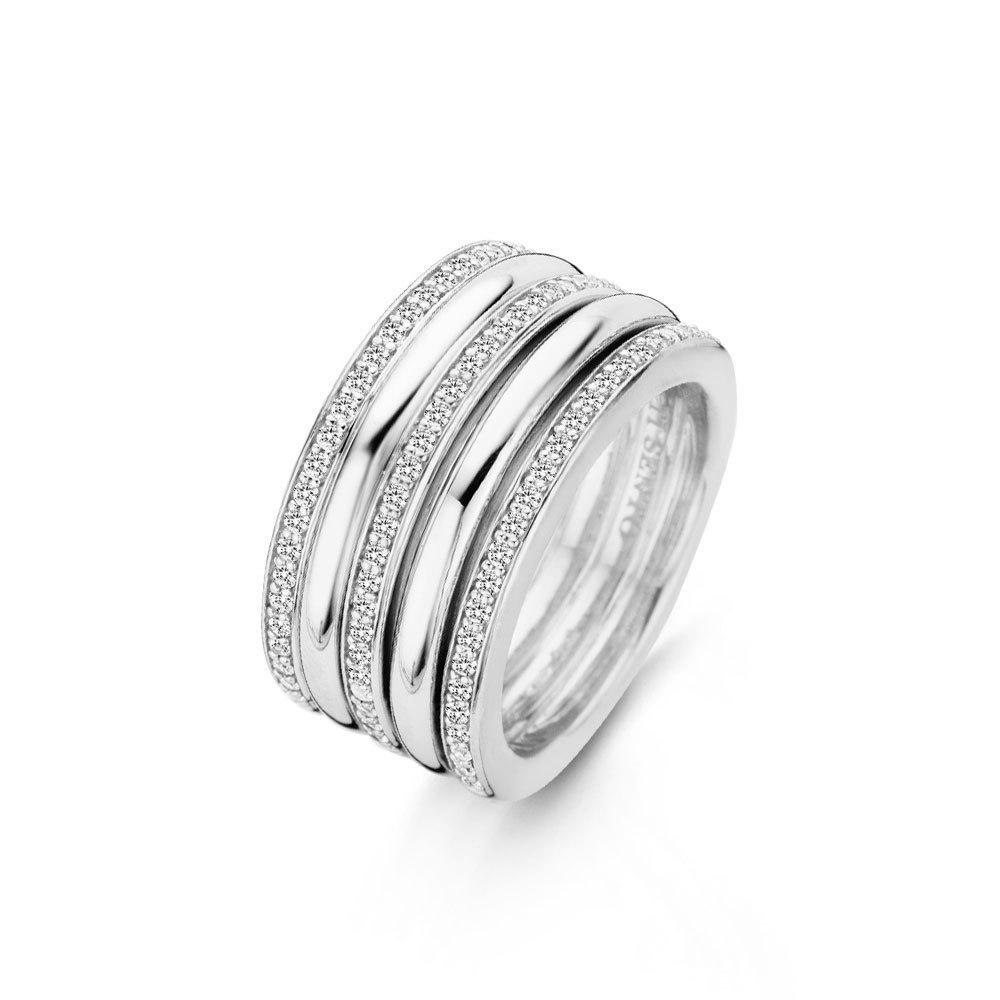 Ti Sento Milano 12145ZI Ring zilver zirconia 12 x 10 mm Maat 58