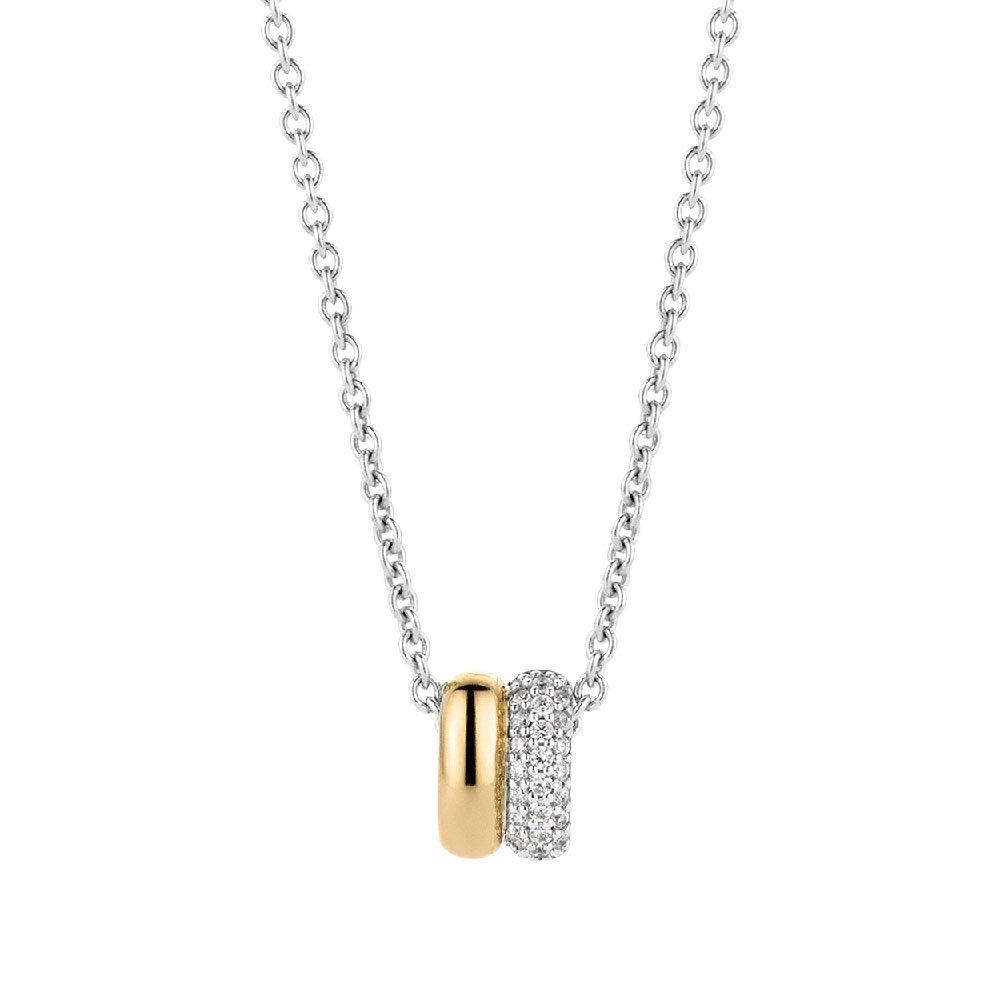 TI SENTO - Milano 3883ZY zilveren collier/ketting 42 cm