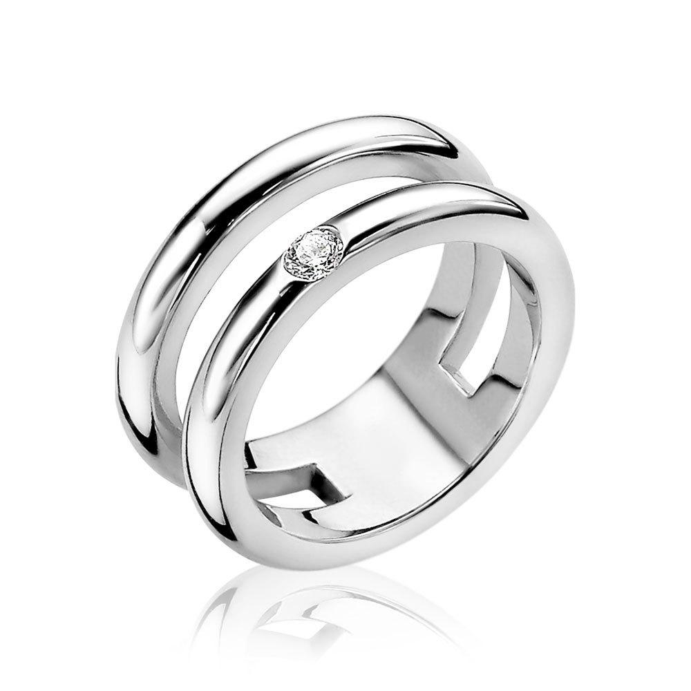 Zinzi ZIR1366 Ring Multilook zilver Maat 56