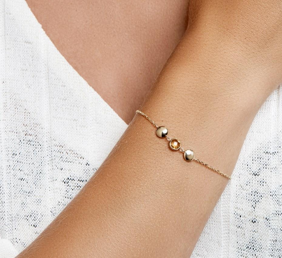 TFT Armband Goud Citrien 1,4 mm 17 - 19 cm
