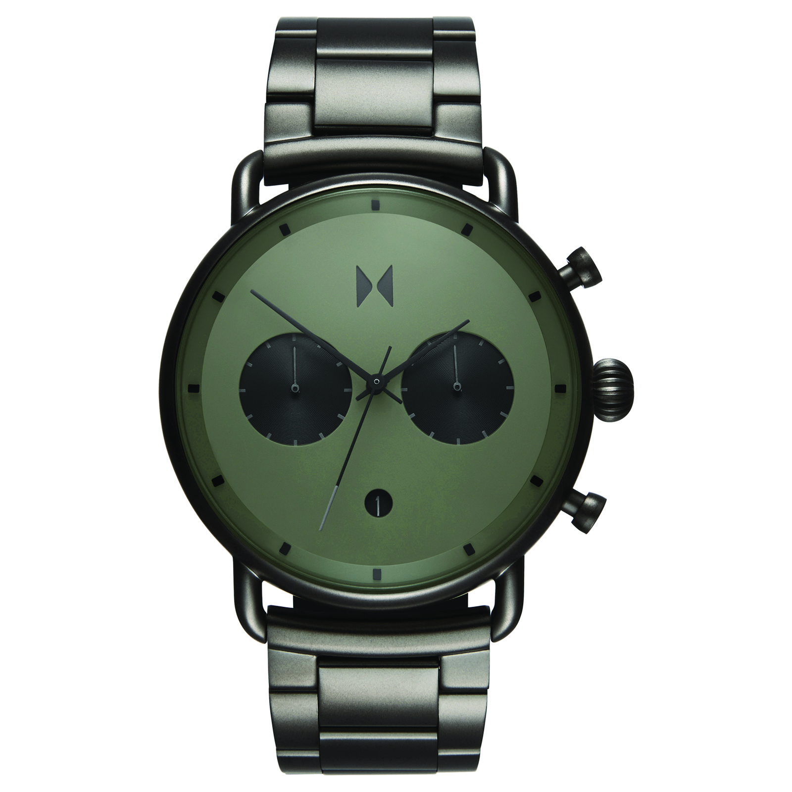 MVMT D-BT01-OLGU RVS Gunmetal Blacktop Horloge 47mm