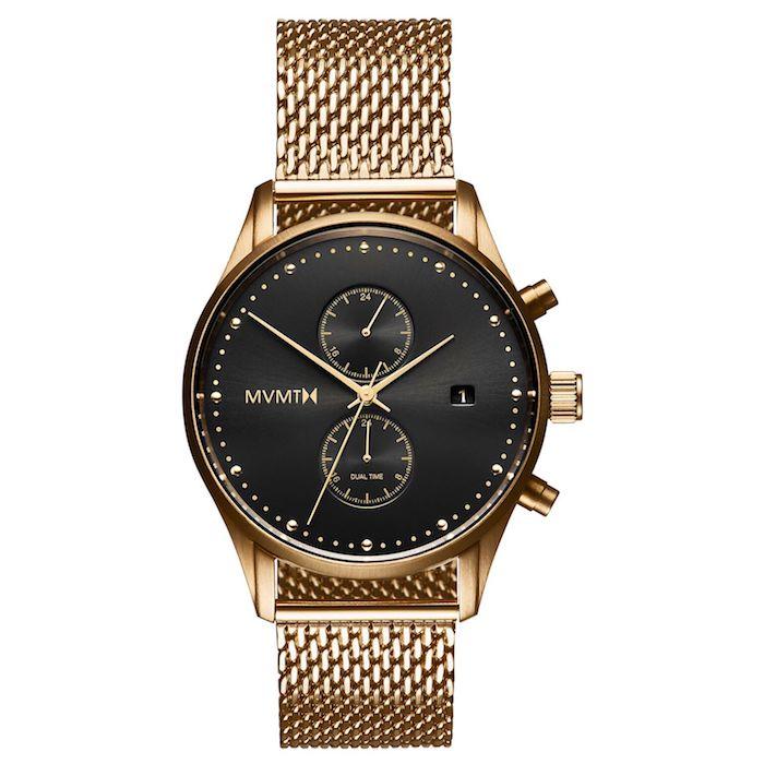 MVMT D-MV01-G2 RVS Goudkleurig Voyager Horloge 42mm