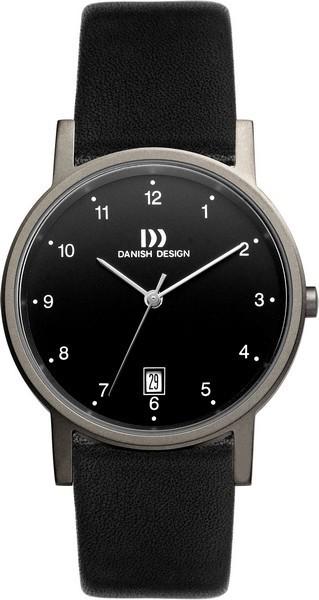 Danish Design IQ13Q170 Horloge titanium/leder 34 mm