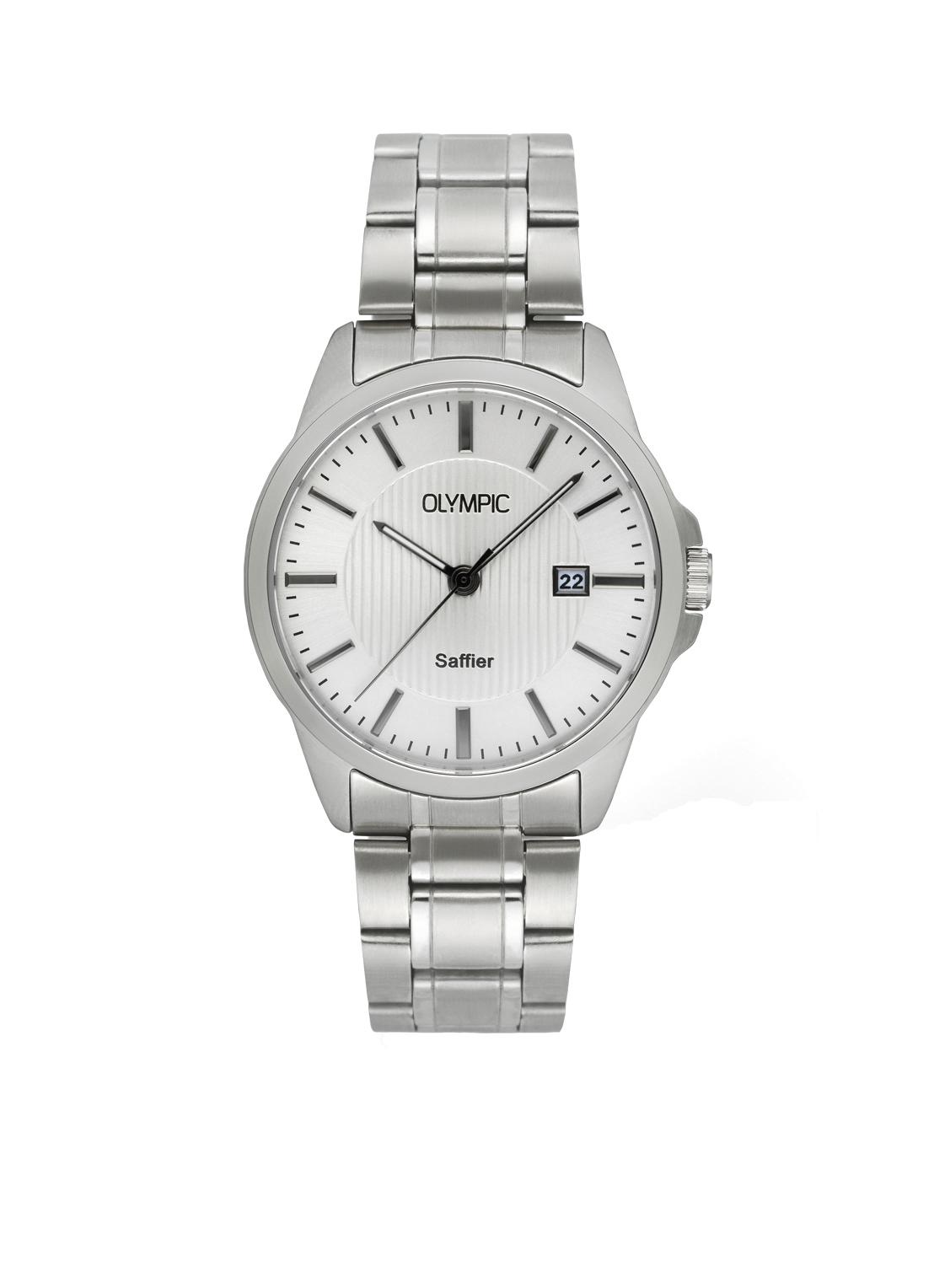 Olympic OL26HSS285 Bari Horloge Staal Zilverkleurig 39mm Heren
