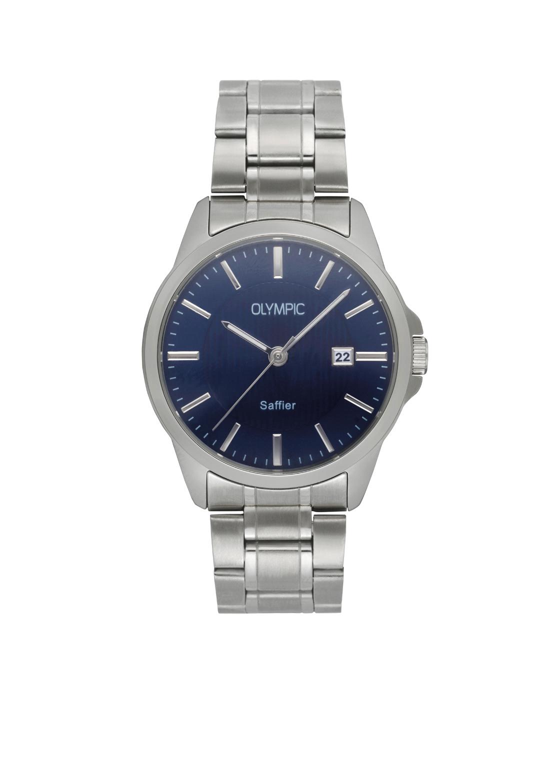 Olympic OL26HSS286 Bari Horloge Staal Zilverkleurig 39mm Heren