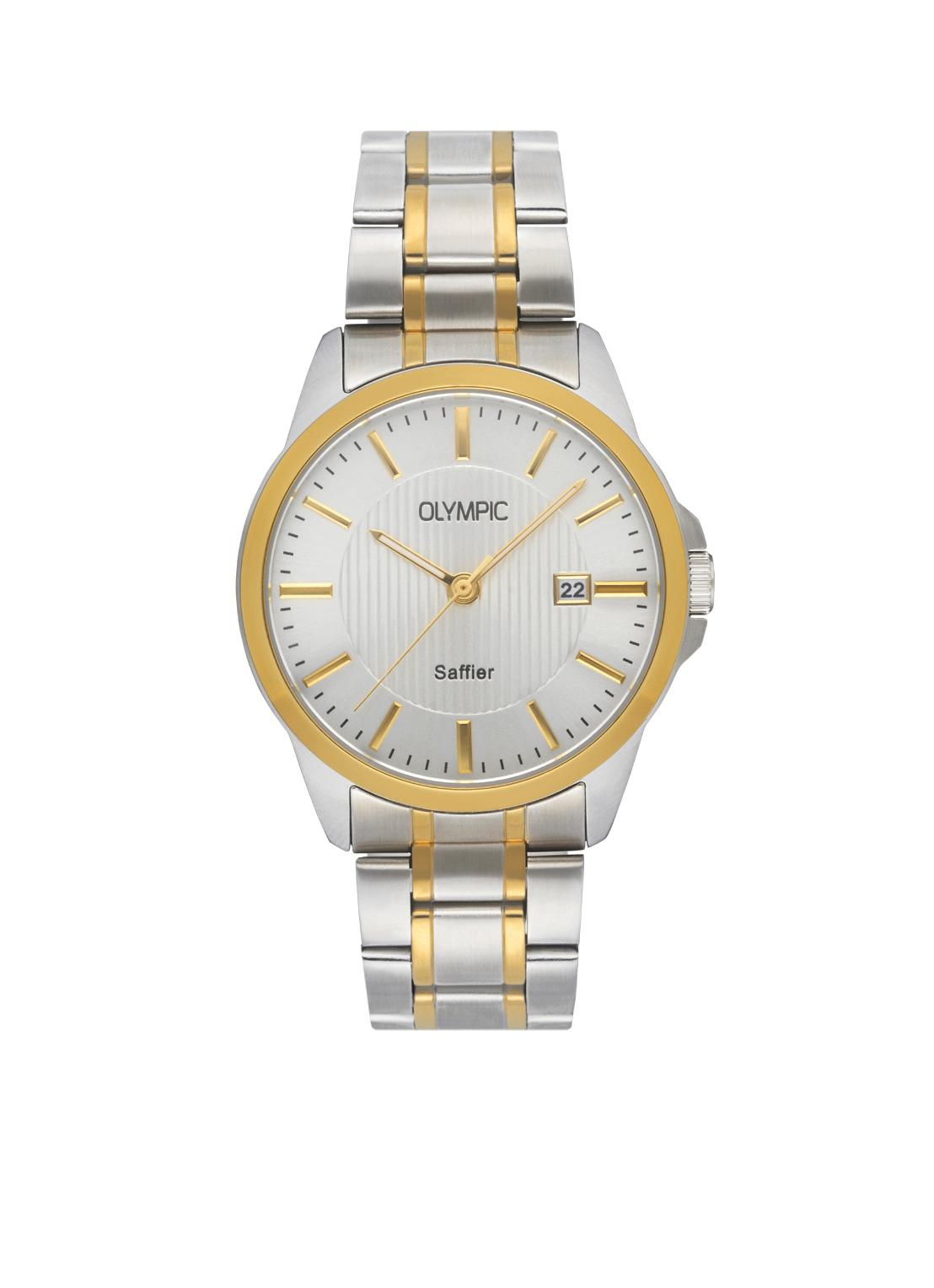 Olympic OL26HSS288B Bari Horloge Staal Zilverkleurig 39mm Heren