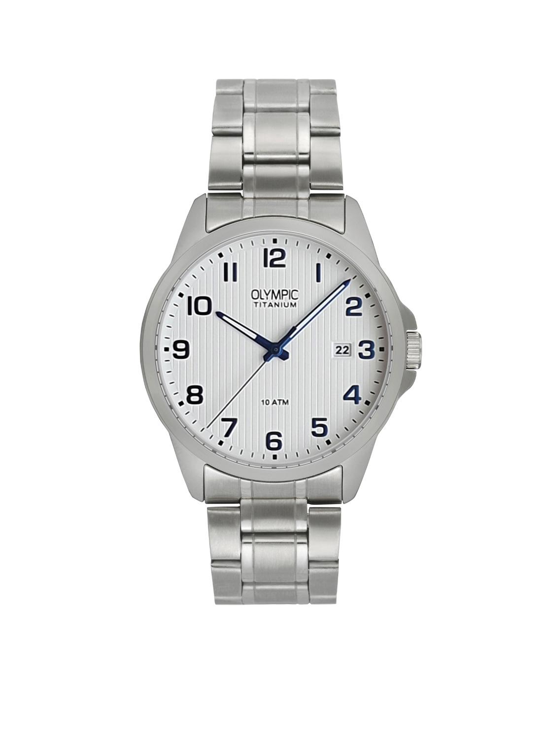 Olympic OL26HTT212 Ferrara Horloge Titanium Zilverkleurig 40mm Heren