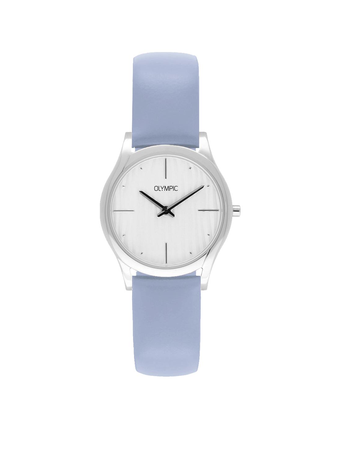 Olympic OL67DSL002 Vicenza Horloge Leer Blauw 32mm Dames